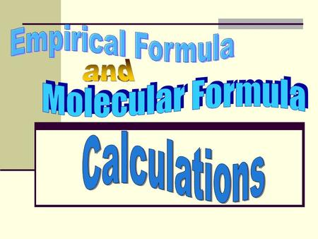 Empirical Formula Calculations Problem: A compound is found to contain the following % by mass: 69.58% Ba 6.090% C 24.32% O What is the empirical formula?