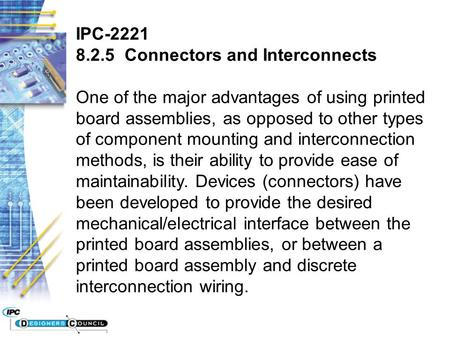 IPC-2221 Connectors and Interconnects