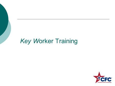 Key Worker Training. 2012 We raised $2,500,468.00.