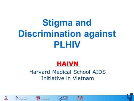 1 Stigma and Discrimination against PLHIV HAIVN Harvard Medical School AIDS Initiative in Vietnam.