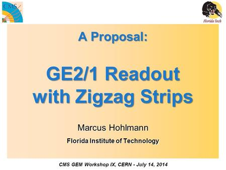 A Proposal: GE2/1 Readout with Zigzag Strips