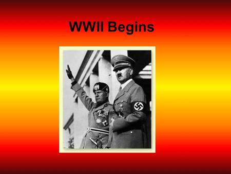 WWII Begins. Path to War 1935 Hitler begins to defy the Treaty of Versailles Began rebuilding the German Air Force and started a military draft Both were.