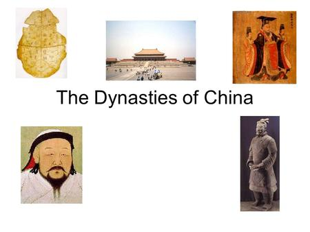 The Dynasties of China. Overview Time span of the dynasties –21 st century B.C. thru1911 A.D. –Almost 4000 years Over 30 different dynasties We have already.
