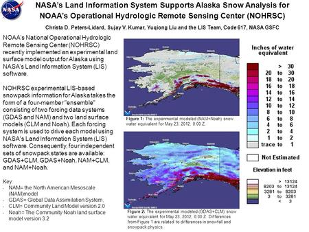 NASA's Land Information System Supports Alaska Snow Analysis for NOAA's Operational Hydrologic Remote Sensing Center (NOHRSC) Christa D. Peters-Lidard,