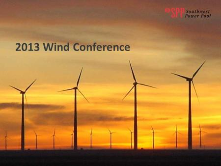 2013 Wind Conference. Congestion Management & Communication Processes CJ Brown.
