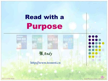 Read with a Purpose 张 Andy