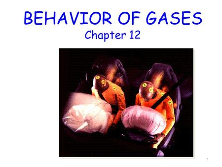 BEHAVIOR OF GASES Chapter 12 1. THREE STATES OF MATTER 2.