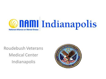 Roudebush Veterans Medical Center Indianapolis. Local Program Contacts Edward Alexander, Executive Director NAMI Indianapolis Indianapolis, IN