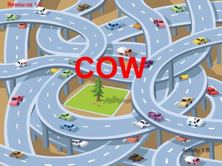 COW Activity 1.B Resource 1.b 1. Everyone 2. Just the driver 3. The driver and children Who should wear a seat belt in your car?