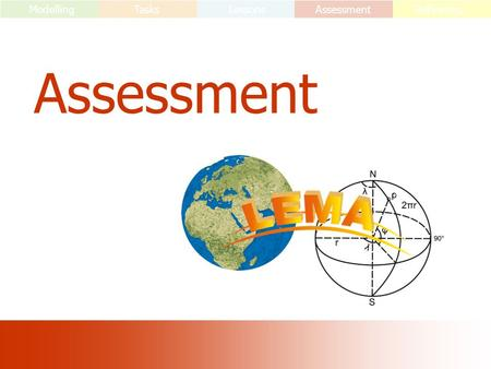 Assessment ModellingTasks LessonsAssessment Reflecting.