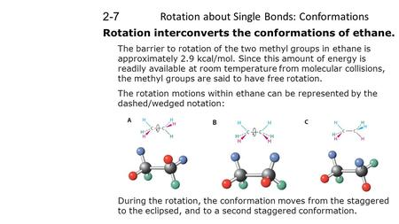 Rotation about Single Bonds: Conformations