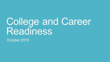 College and Career Readiness October 2015. Four Year Plan Plan your courses over four years Track IRHS graduation requirements: Are you on track to obtain.