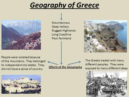 Geography of Greece Mountainous Deep Valleys Rugged Highlands