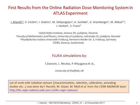 First Results from the Online Radiation Dose Monitoring System in ATLAS Experiment ______________________________________________________________________________________________________.