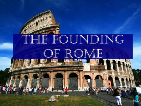 "The Founding of Rome. Geography of Italy Italy is a peninsula in the center of the Mediterranean. The Apennines mountain range – ""Backbone of Italy"""