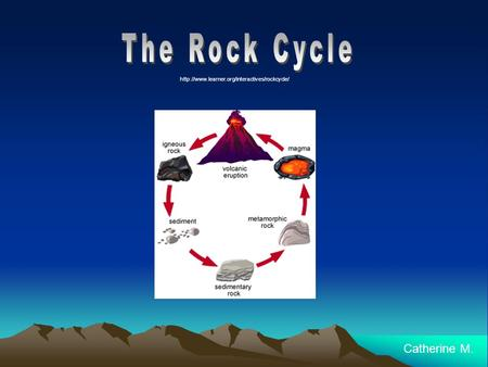 The Rock Cycle Catherine M.