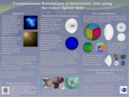 Computational Simulations of Relativistic Jets using the Cubed Sphere Grid Previous Grid Constructions The objective of our study is to determine what.