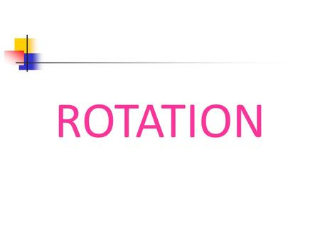 ROTATION. 12/7/2015 Goals Identify rotations in the plane. Apply rotation to figures on the coordinate plane.