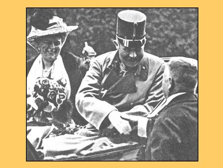 Can you remember the story of the assassination of Archduke Franz Ferdinand and his wife?
