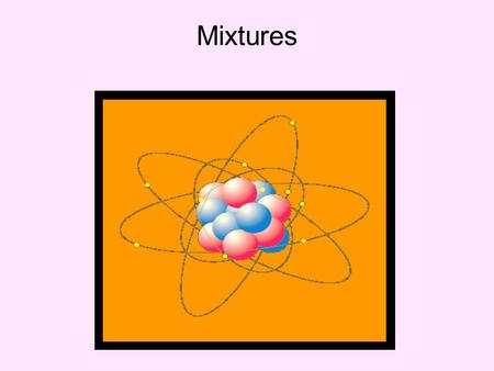 Mixtures. A mixture is a form of matter that is composed of two or more elements, two or more compounds, or of elements and compounds.