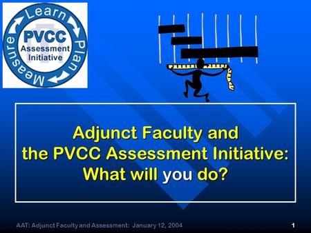 AAT: Adjunct Faculty and Assessment: January 12, 20041 Adjunct Faculty and the PVCC Assessment Initiative: What will you do?
