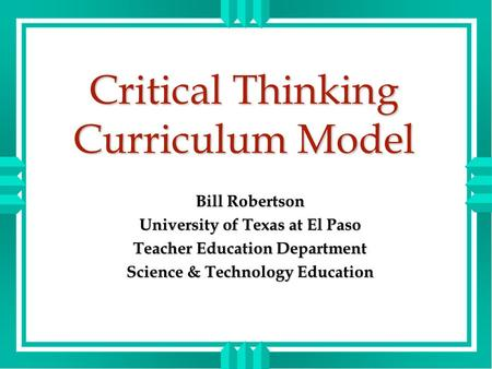 Critical Thinking Class Curriculum - image 9