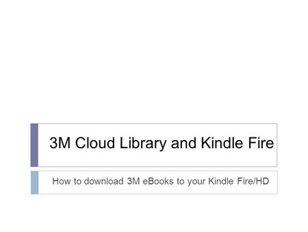 how to download library onto kindle