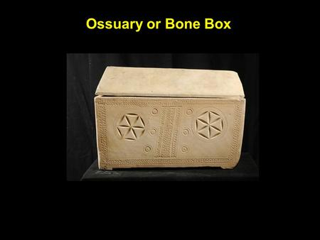 Ossuary or Bone Box. Tomb in Jerusalem thought to be burial site of Jesus.
