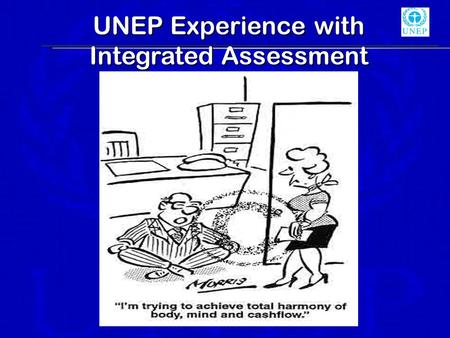 UNEP Experience with Integrated Assessment. EIA since 70s.