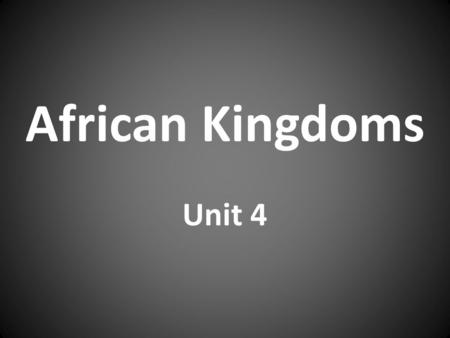 African Kingdoms Unit 4. Migration move from one country or region to another Examples: Environmental, Social, Economic, & Political Push-Pull Factors: