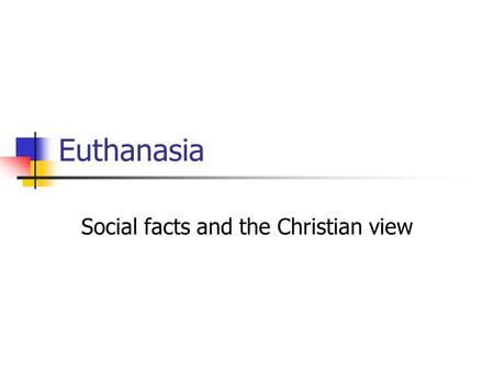 Social facts and the Christian view