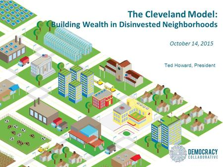 The Cleveland Model: Building Wealth in Disinvested Neighborhoods October 14, 2015 Ted Howard, President.