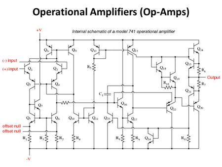 Operational Amplifiers (Op-Amps). Operational Amplifier (Op-Amp) Not a discrete device (resistor, cap, ind, diode, transistor etc.) IC ! 2-input terminals.