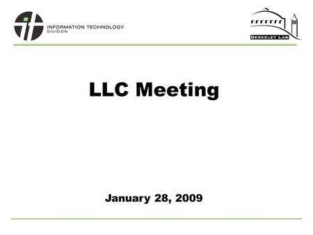 LLC Meeting January 28, 2009. 2 UCB/LBL Journals Partnership Library Space Reduction SciFinder Usage AGENDA.