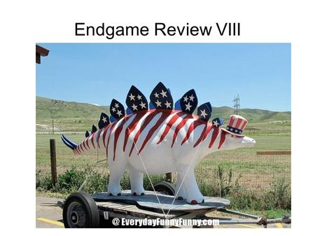 Endgame Review VIII. A Brief History of Unit 8 The Great Depression – 25% of Americans unemployed Keynesian vs Austrian theories Global collapse – British.