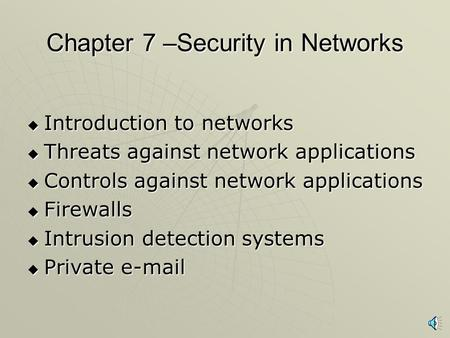 an introduction to the importance of network security and firewalls I introduction the operation or a firewall is an important tool of network security system firewall: a perimeter security solution.