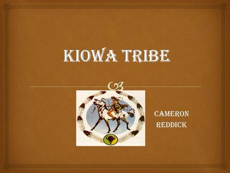 CameronReddick.   Kiowa Hunters = used bows and arrows. In the war Kiowa man fired their bows or basically fought with their cubs and hide shields.