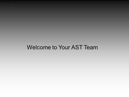 AST Team Welcome to Your AST Team Savings Account Building up your Savings Account (Cash Recovery Account)