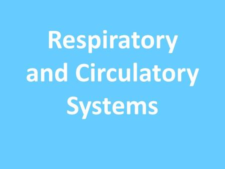 Respiratory and Circulatory Systems. These two systems work together to provide oxygen and food to cells.
