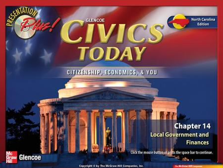 Splash Screen. Chapter Intro 2 Section 1: Municipal Government in North Carolina People form governments to establish order, provide security, and accomplish.