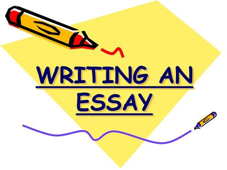 WRITING AN ESSAY. Keywords: Analyse Essay Compare Quote.