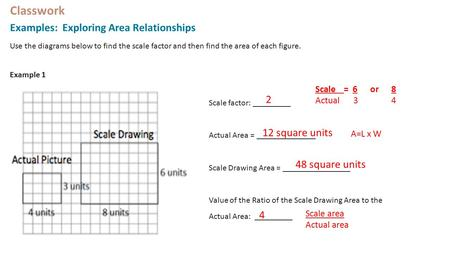 scale factor and area relationship