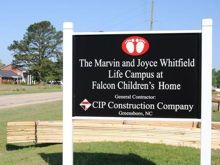 The following slides are photos of the current construction progress on the Marvin & Joyce Whitfield Life Campus.