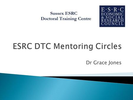 Dr Grace Jones.  Aims & Objectives mentoring  Mentoring circles  Benefits  Expectations and ground-rules  Skills  Topics  First meetings  Practice.
