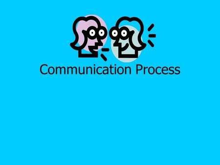 Communication Process. Assignment: Define the following New Speech Terms: 1.Communication- The process of sending and receiving messages.