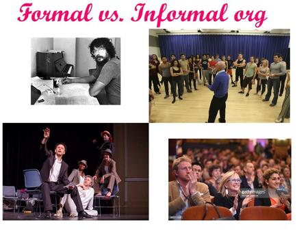Formal vs. Informal org. EMPOWERING YOUR PROFESSIONAL LIFE 1.Learning to empower > control co-workers 2.Team-work environment.