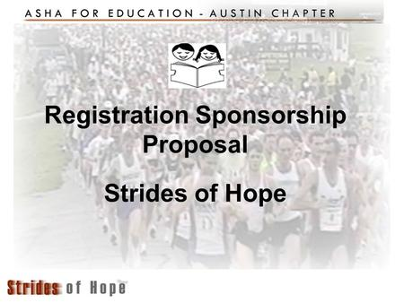 Registration Sponsorship Proposal Strides of Hope.
