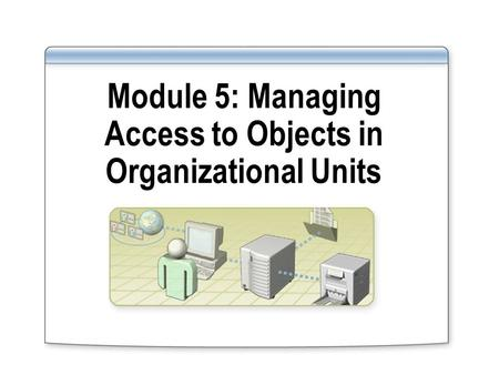 Module 5: Managing Access to Objects in Organizational Units.