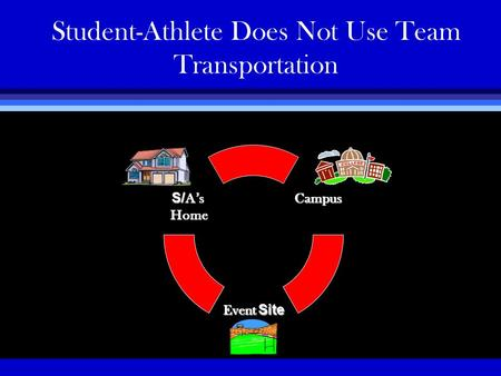 Student-Athlete Does Not Use Team Transportation.