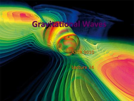 Gravitational Waves ASTR 3010 Lecture 24. Propagation Speed of Information EM waves : this should be propagated at c EM waves : this should be propagated.